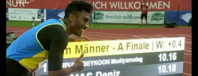 Yupun Abeykoon sets new South Asian record in 100m