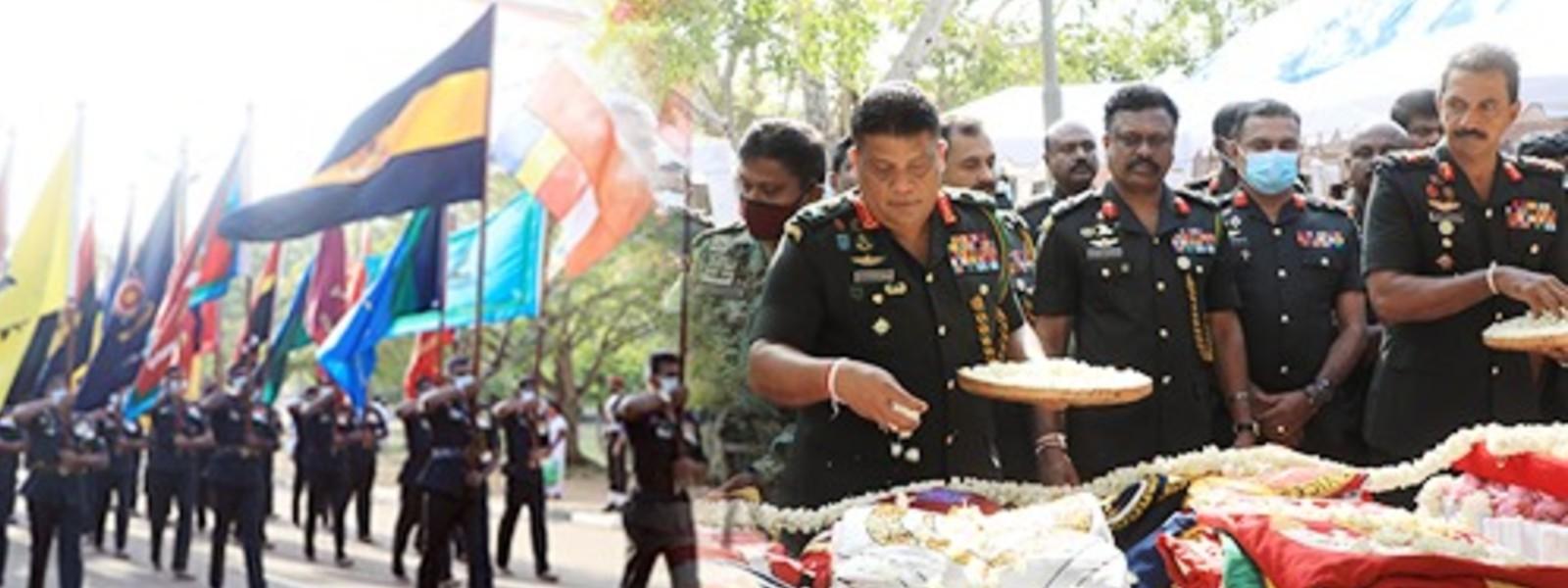 'Jaya Sri Maha Bodhi' Blessings Invoked Symbolically on Army Flags in Anuradhapura