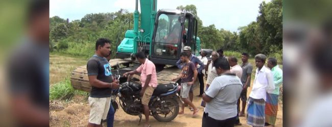 Tense situation amidst moves to halt Manabharana wewa construction