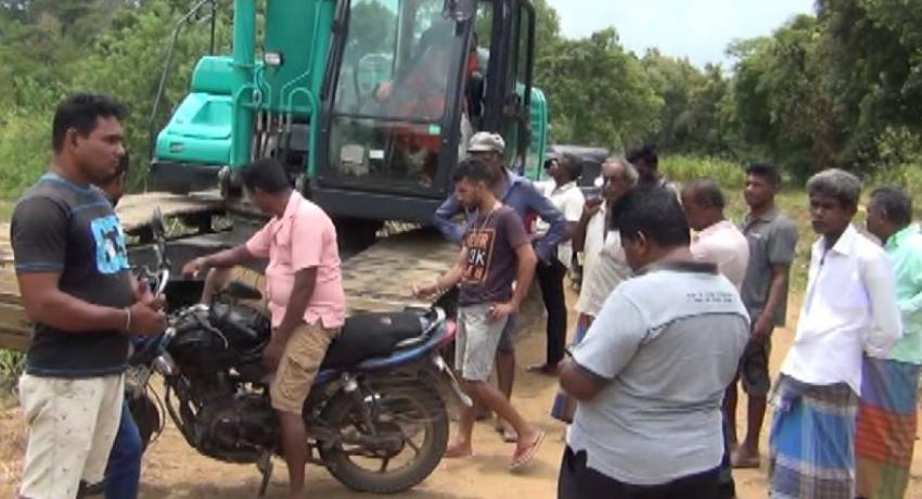 Tense situation amidst moves to halt Manabharana wewa construction