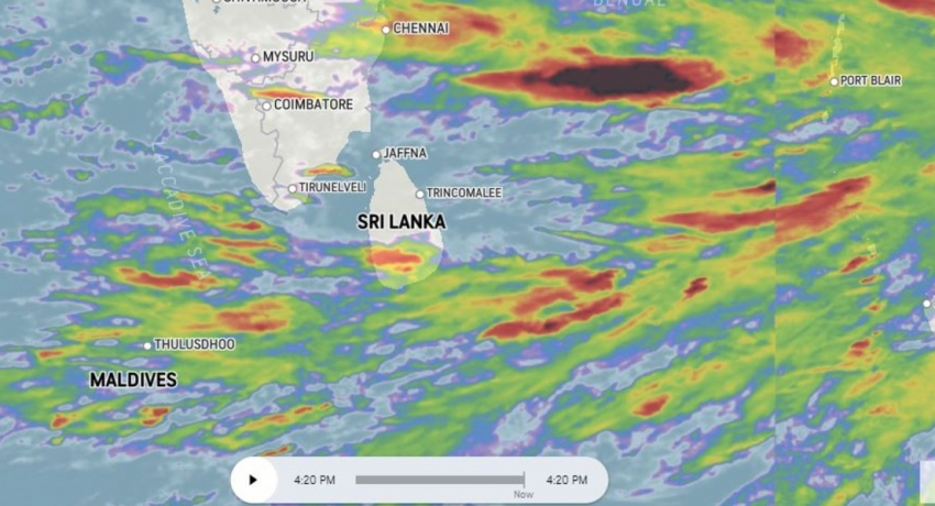 RED ALERT issued for Heavy Rains across many areas in Sri Lanka