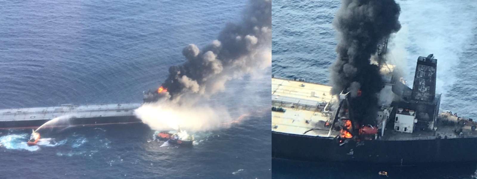 Fire onboard MT New Diamond contained into a greater extent; Sri Lanka Navy