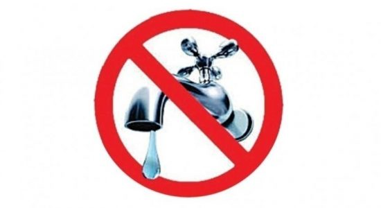 18 hour water cut for multiple areas in Colombo