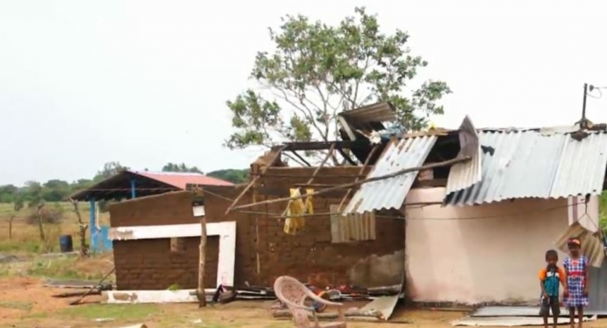 Gale winds damaged 112 houses and 37 business establishments across many areas
