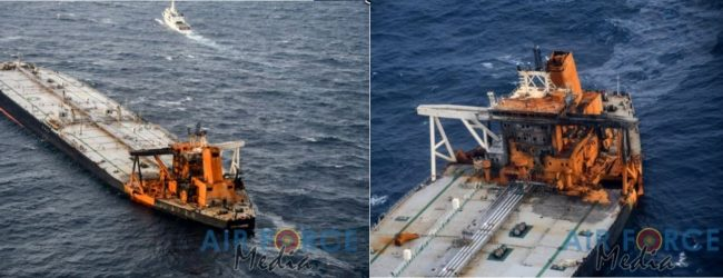 Oil slick from MT New Diamond located 02 nautical miles close to distressed tanker