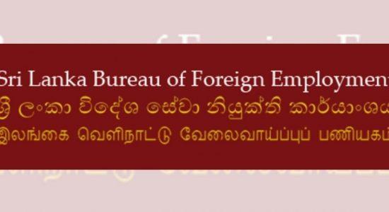 Process of sending Sri Lankans for employment overseas, resumes: SLBFE