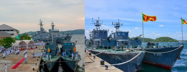After decades of service SLNS 'Weeraya' and 'Jagatha' wave farewell