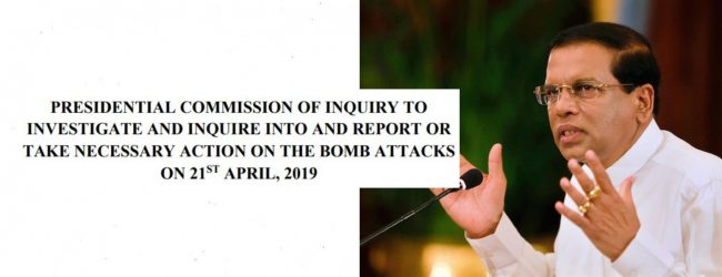 Sirisena says he does not accept PSC report on bombings