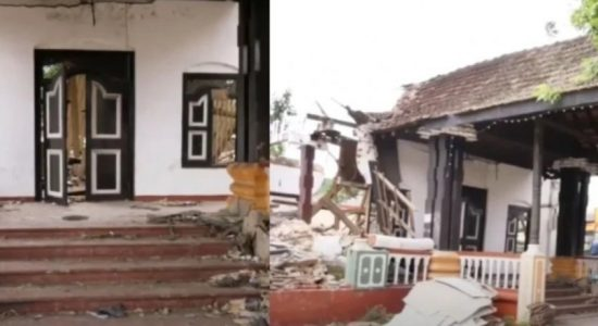 Tense situation opposite historic King's Assembly Hall in Kurunegala