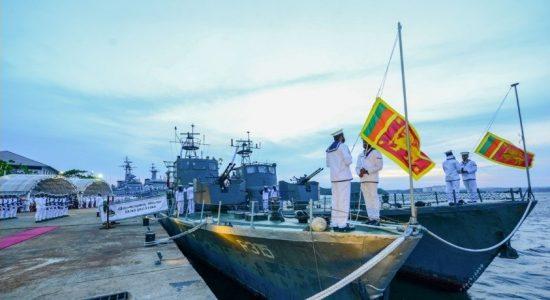 After decades of service SLNS 'Weeraya' and 'Jagatha' wave farewell