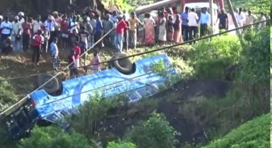 Scores injured after bus plunges into precipice along Hatton – Dayagama Road