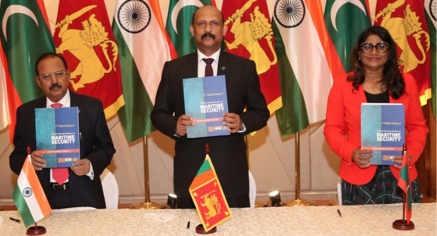 Sri Lanka, India & the Maldives agree to strengthen cooperation on Maritime Security
