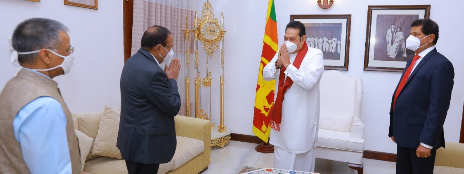 Indian National Security Advisor meets Sri Lankan PM