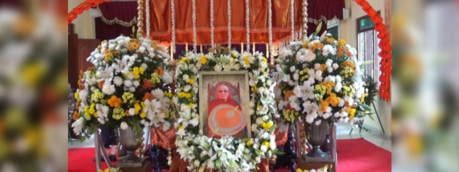Final rites of Most Ven. Napane Pemasiri Thero today