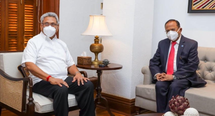 India's National Security Adviser Ajith Doval meets the President