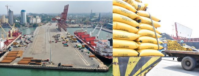 Bulk carriers with fertilizer arrive at Port of Colombo