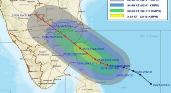 "Severe Cyclonic Storm ""NIVAR"" to further intensify"