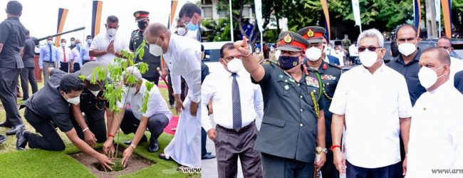 President launches 'Husma Dena Thuru' afforestation project