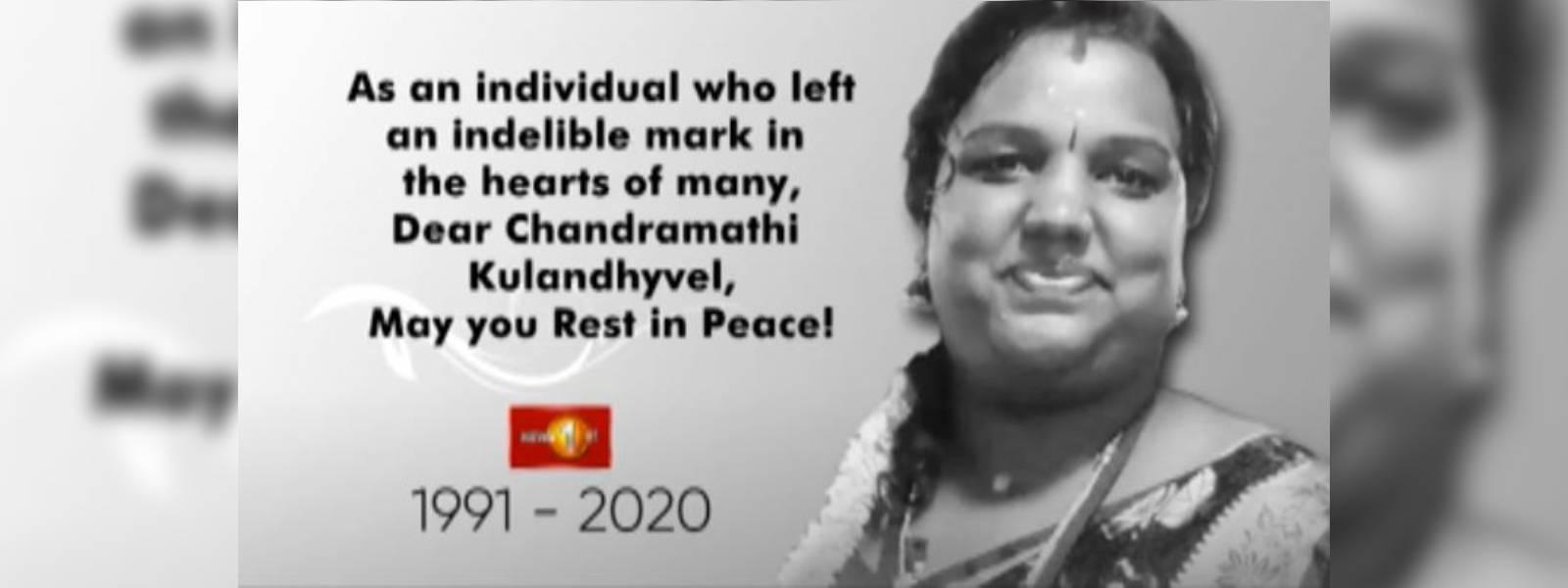 Final rites of News 1st journalist Chandramathi Kulandhyvel to be held tomorrow