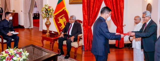 """""""We need investments: not loans"""" President tells Chinese Ambassador"""