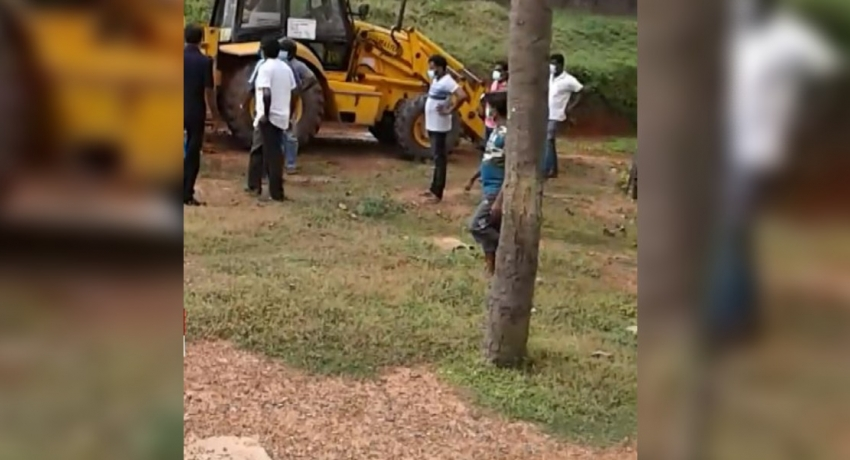 Controversy surrounding road construction at University of Ruhuna