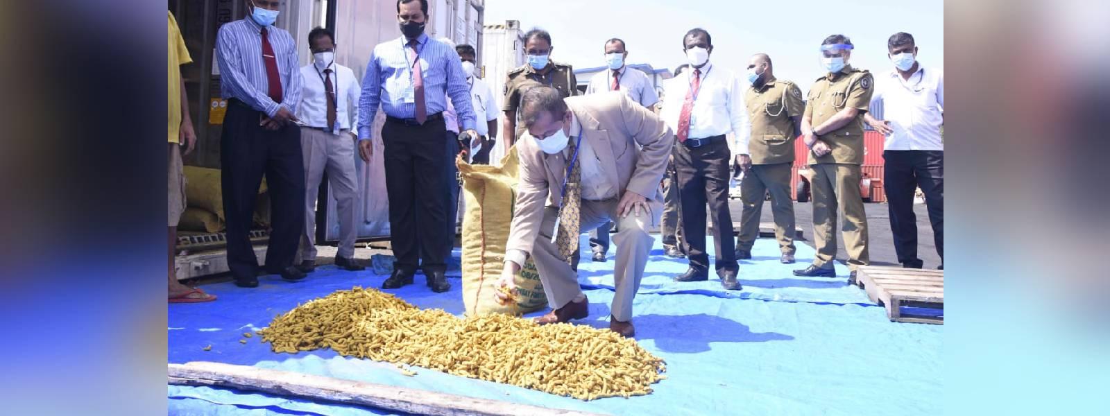 Customs bust smuggled turmeric worth Rs 19 million