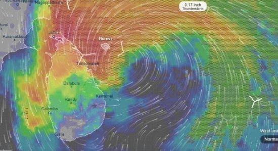 Cyclone Burevi : Highest rainfall recorded from Alampil in Mullaithivu