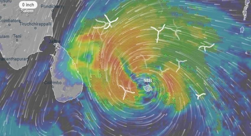 Cyclone Burevi to Cross Sri Lanka's east tomorrow