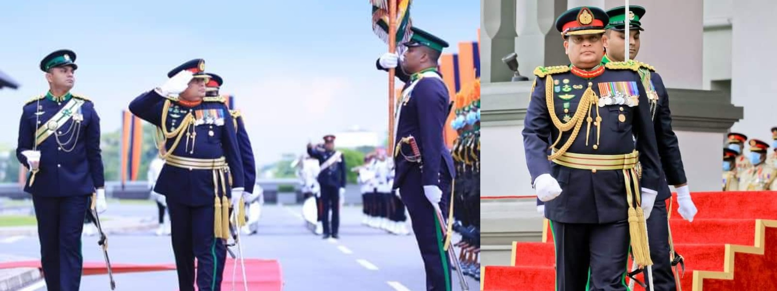 GENERAL SHAVENDRA SILVA HONOURED WITH MILITARY SALUTE