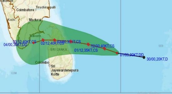"WARNING : Cyclonic Storm ""BUREVI"" to make landfall in Sri Lanka today (02)"