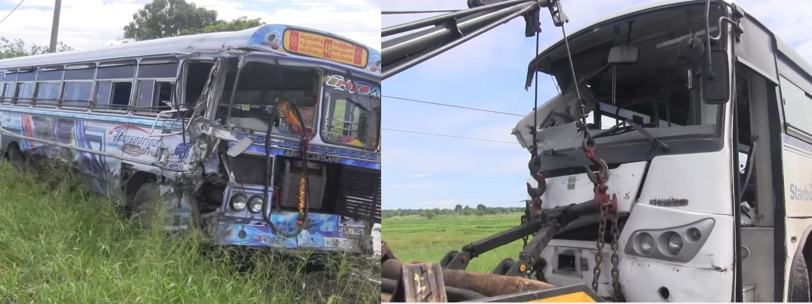 Bus transporting COVID-19 patients crashes on to an oncoming bus