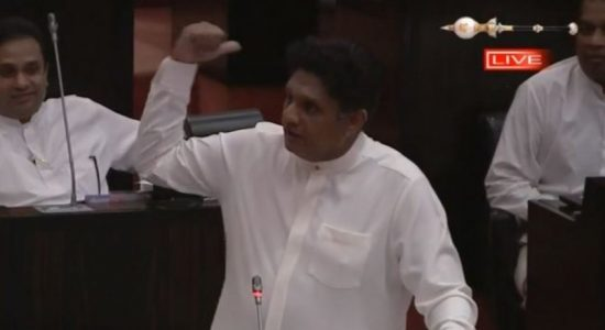 Sajith opposes Speaker's attempt to expunge comment in Parliament