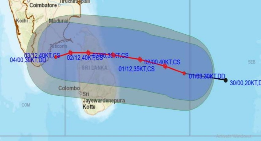 "RED ALERT Warning for Cyclonic Storm ""BUREVI"""