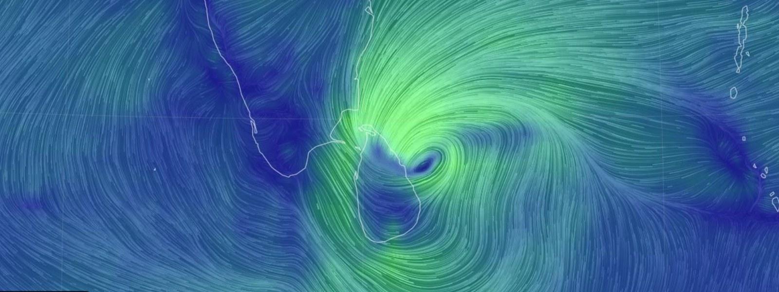 Cyclone BUREVI 110 km off Sri Lanka's Eastern coast