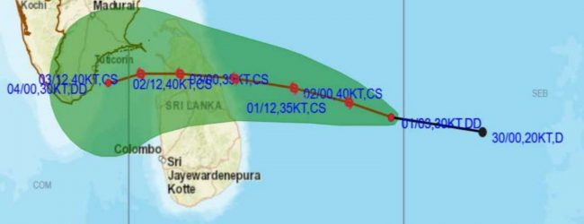 Strong winds expected as Cyclone Burevi to make landfall in SL