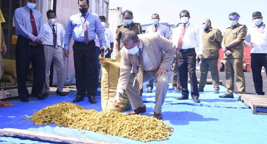 Customs bust smuggled turmeric worth Rs 19 million