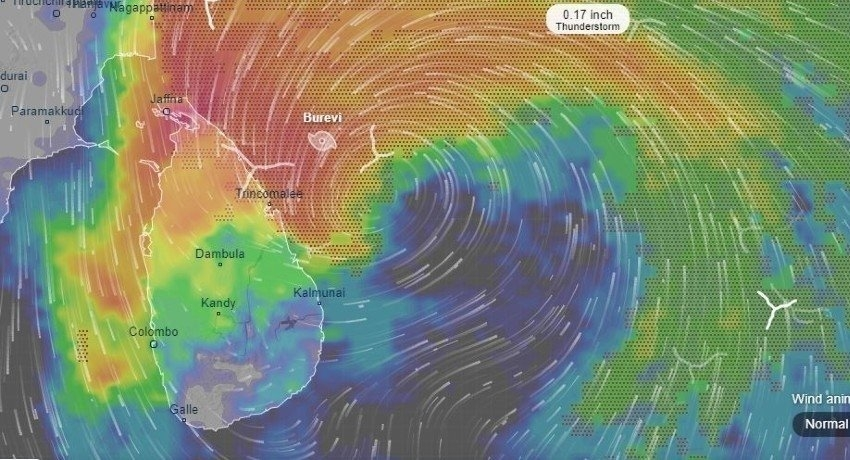 Cyclone Burevi : Intermittent showers or thundershowers likely at some areas