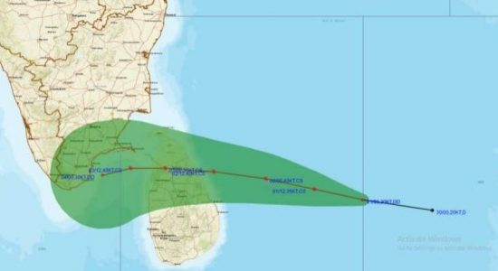 Cyclone to cross eastern coast of Sri Lanka on 02nd Dec.; Met Department