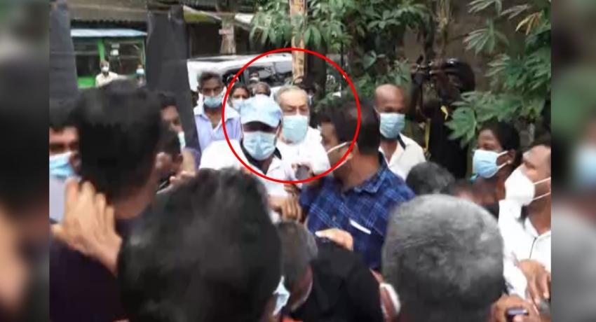 Opposition towards Minister Vasudeva in Eheliyagoda