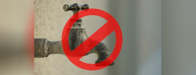 24-hour water cut for several areas in Kurunegala