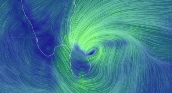 Cyclone BUREVI 110 km off Sri Lanka's Eastern coast