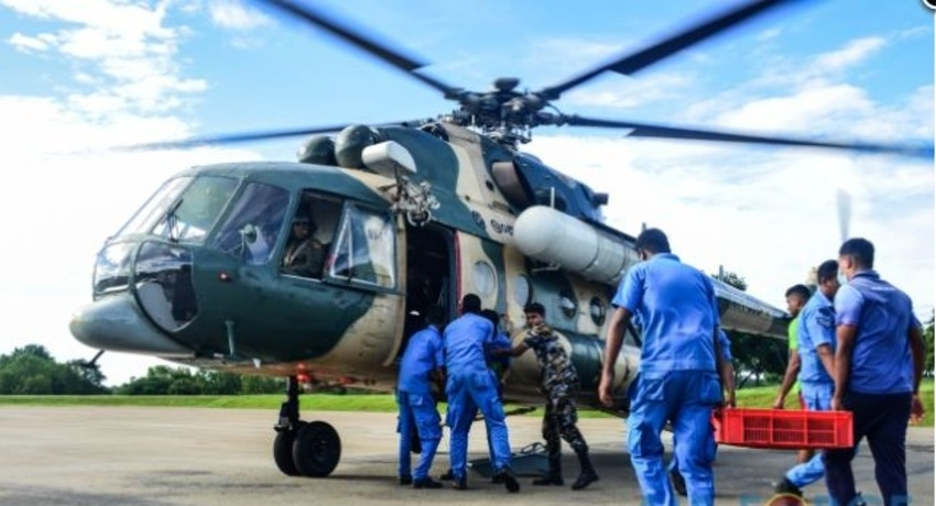 04th Aerial Seed Bombing Operation carried out by SLAF