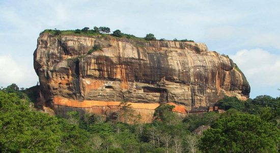 The Ukrainian tourists tour Sigiriya