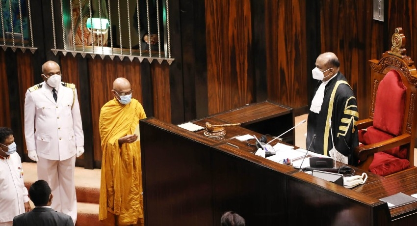 VEN. RATHANA THERO TAKES OATHS IN PARLIAMENT