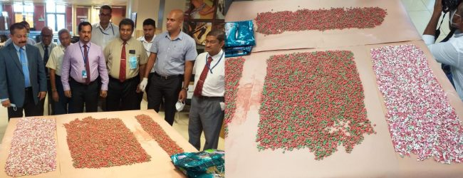 CUSTOMS SEIZE RECORD HAUL OF ECSTASY