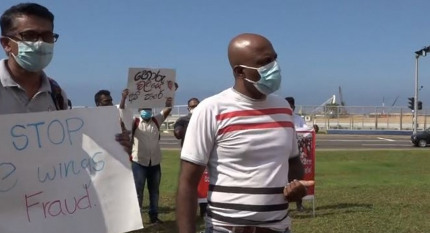PROTEST AGAINST FINANCIAL FRAUD