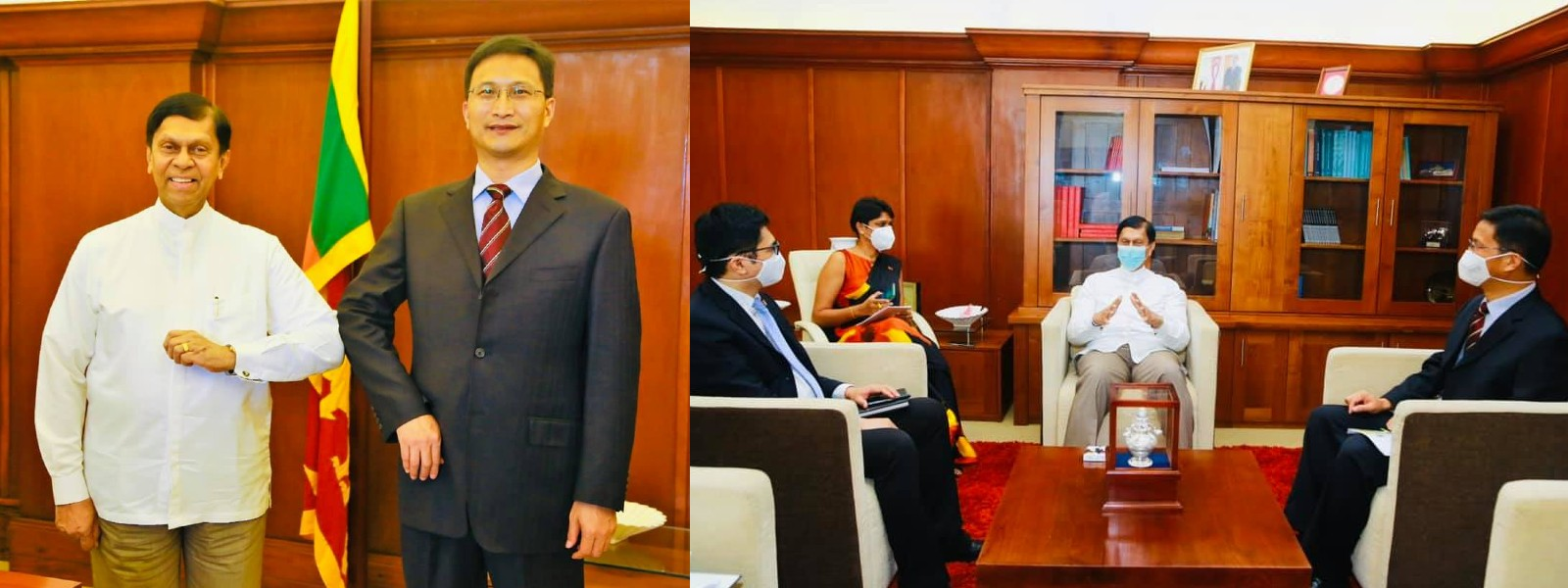 SL & CHINA DISCUSS PORT CITY AND HAMBANTOTA