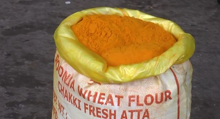 7500 KG OF ILLEGALLY IMPORTED TURMERIC SEIZED