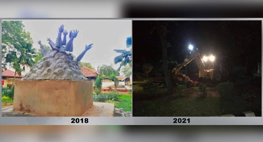 Mullivaikkal Memorial demolished amidst protests