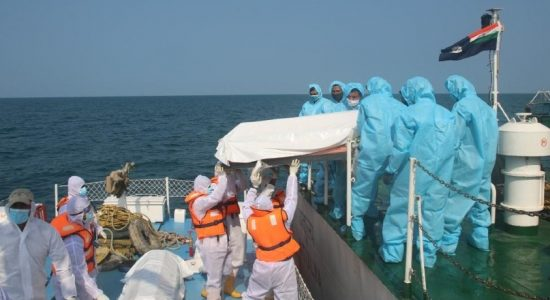 Bodies of Indian fishers handed over to Indian Coast Guard
